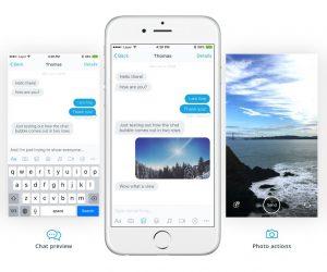 طرح لایه باز رابط کاربری اپلیکیشن پیام رسال Messaging Design Kit