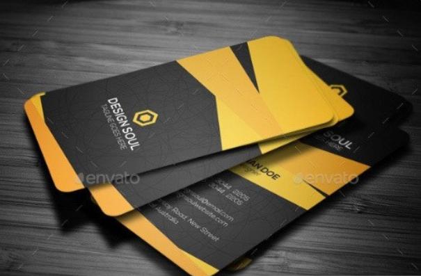 طرح لایه باز کارت ویزیت (شماره 2)