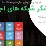 افزونه شمارشگر شبکه های اجتماعی  Arqam social counter