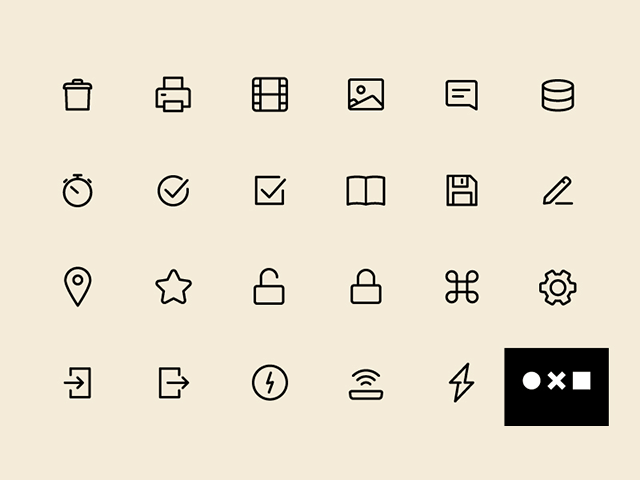 مجموعه آیکون UI 100