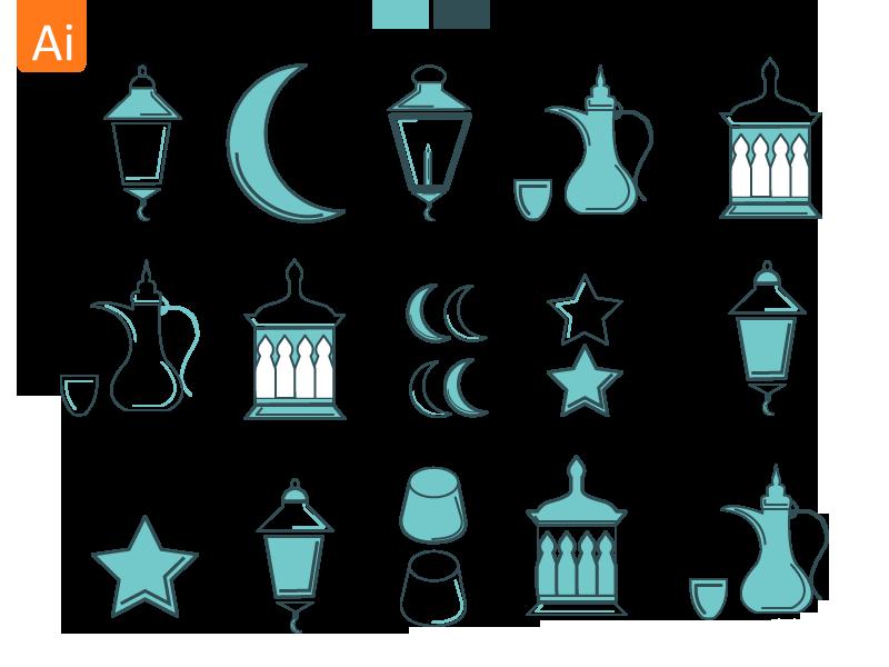 مجموعه آیکون رمضان