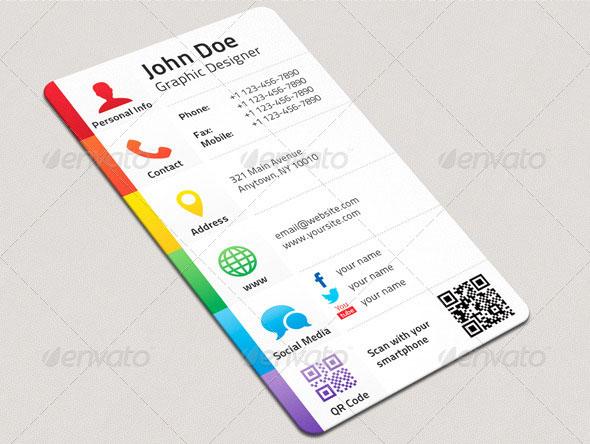 طرح لایه باز کارت ویزیت (شماره 1)