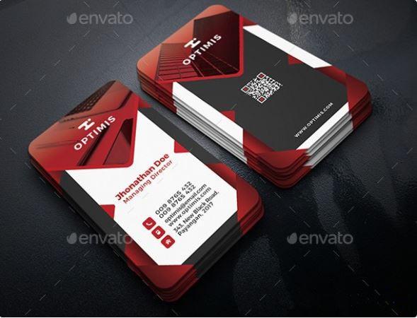 طرح لایه باز کارت ویزیت (شماره 9)
